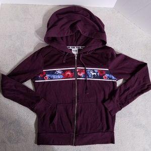 PINK Victoria's Secret Zip-up Hoodie Sweatshirt